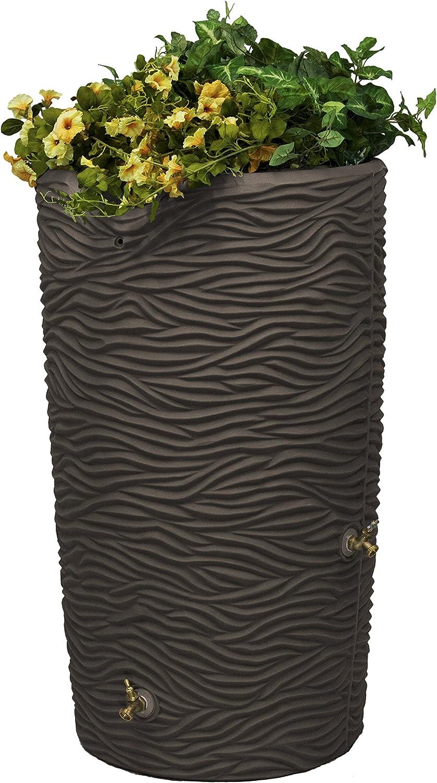 Good Ideas Imp-L65-Oak Impressions Palm Rain Saver, 65 Gallon, Oak