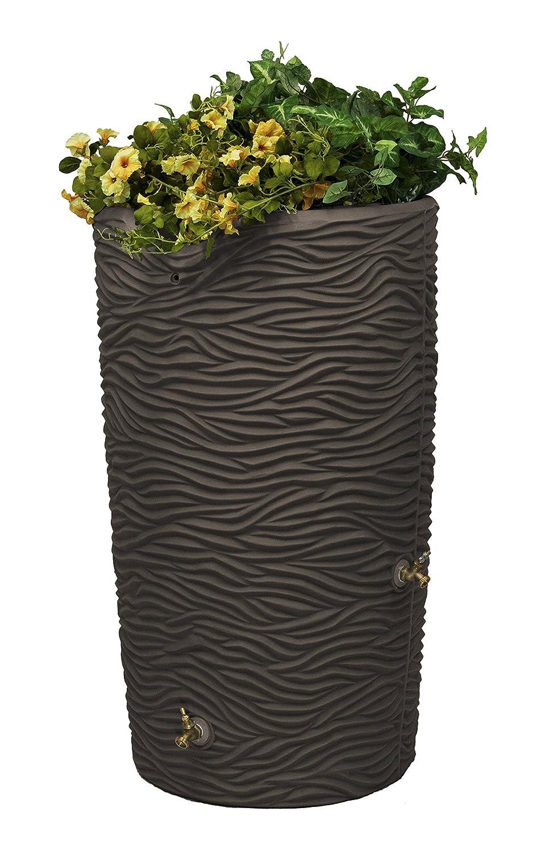 Good Ideas IMP-L65-OAK Impressions Palm Rain Saver, 65-Gallon, Oak