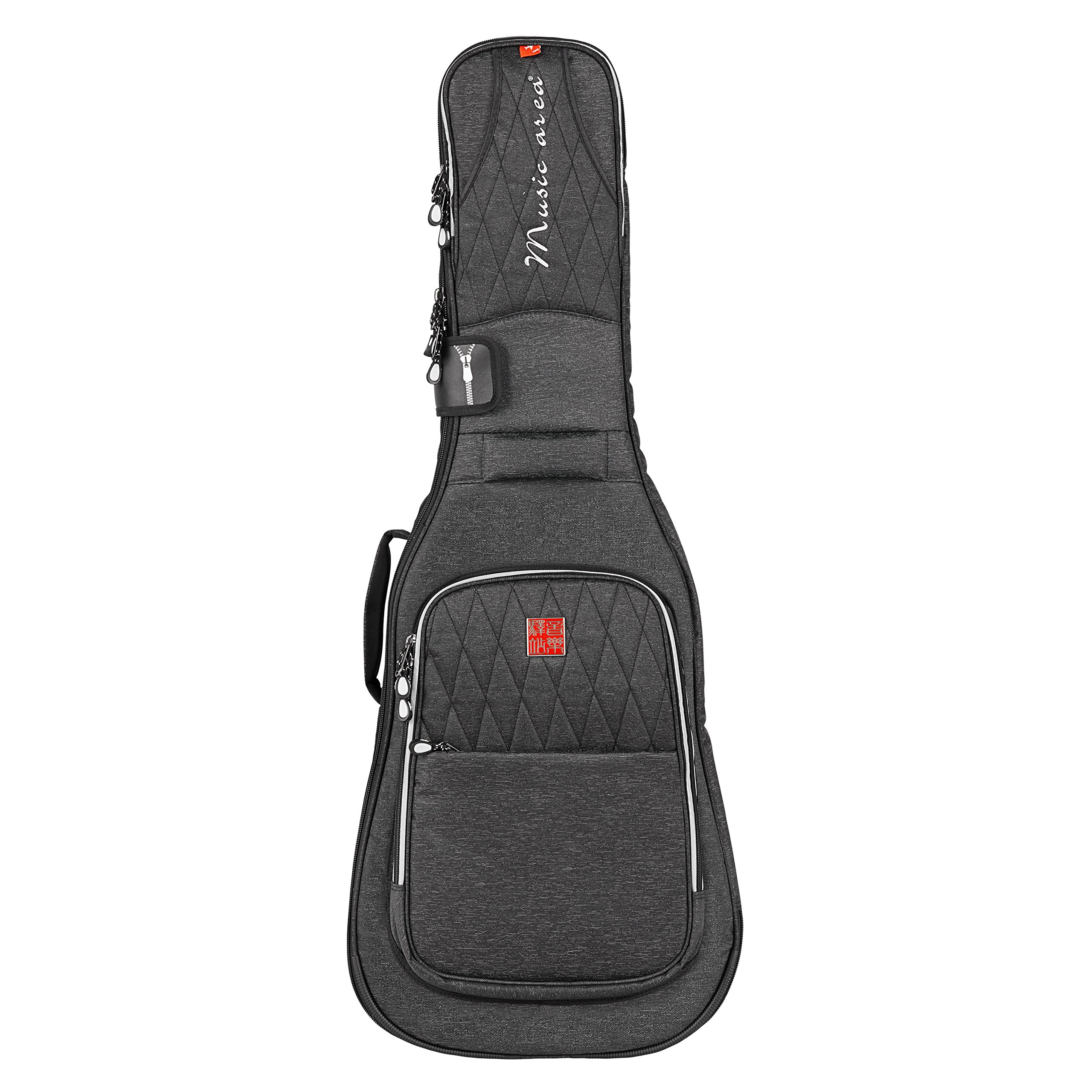 Music Area TANG30 Electric Guitar Gig Bag Waterproof 30mm cushion Protection Patented - Black