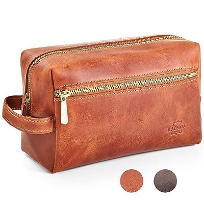 c091d9103b52 Leather Toiletry Bag Dopp Kit by Rachiba - Mens Leather Toiletry Bag ...