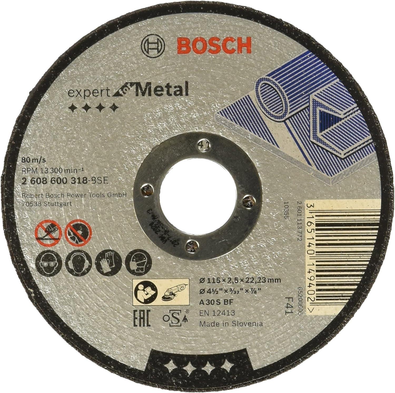 Bosch 2 608 600 318 - Disco de corte recto Expert for Metal - A 30 S BF, 115 mm, 2,5 mm (pack de 1)