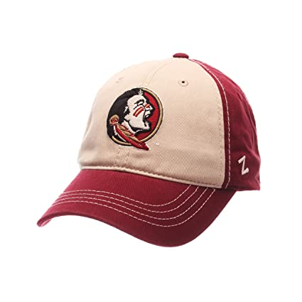 ae69f69a7220bf ZHATS NCAA Florida State Seminoles Men's Sigma Relaxed Cap, Stone/Cardinal,  Adjustable