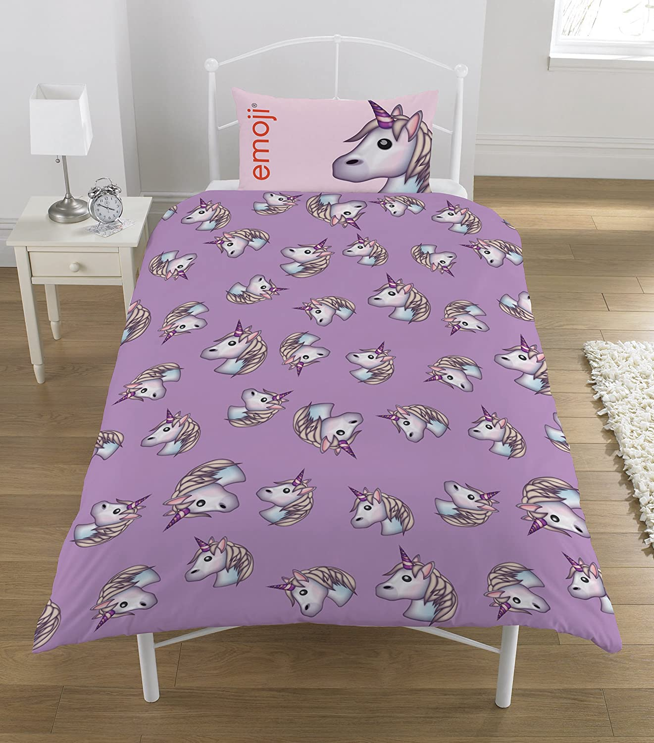 kitchen home pillowcase set dp us bed com cover single and unicorn duvet twin bedding magical amazon