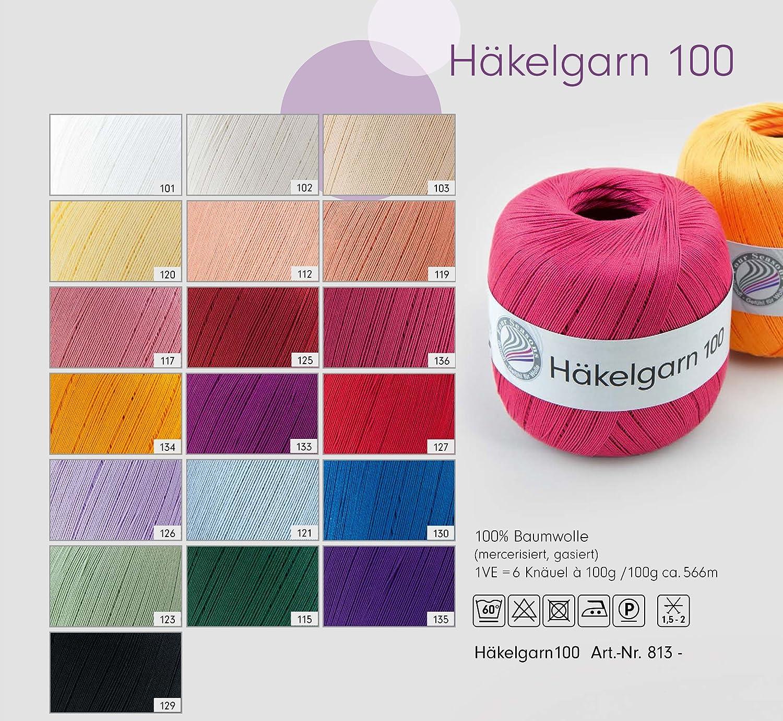 Häkelgarn 100 Gründl Wolle Baumwolle 100 G Farbe 121 Amazonde