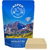 Cocoa Butter Pure Raw Unrefined - 1 LB - Premium Cacao Scent and Quality, Hydrating Skin Emollient - Use for lotion, cream. lip balm, oil, stick or body butter. Aspen Naturals Brand (1 lb)
