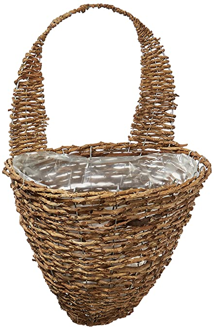 Well known Amazon.com : Gardman R299 Rustic Rattan Half Hive Hanging Wall  PY61