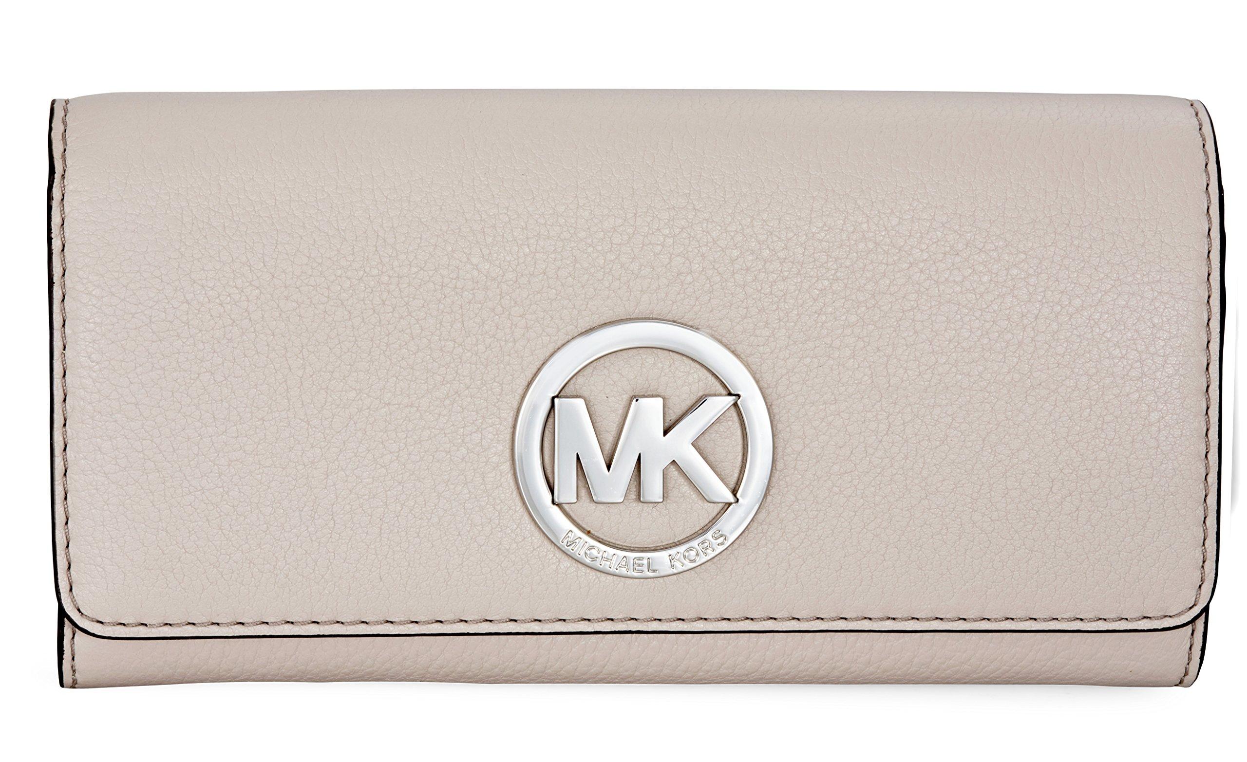 MICHAEL Michael Kors Fulton Carryall Wallet (pearl grey) by MICHAEL Michael Kors