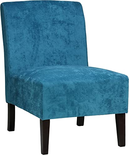 Cortesi Home Chicco Blue Armless Accent Chair