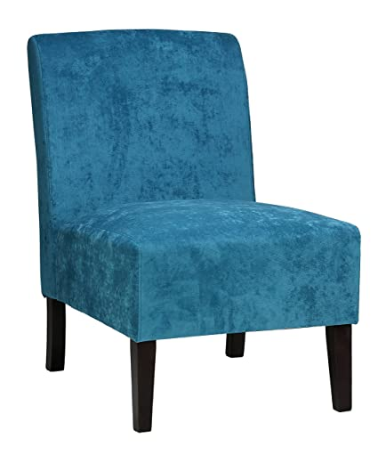 Cortesi Home Chicco Armless Accent Chair, Blue