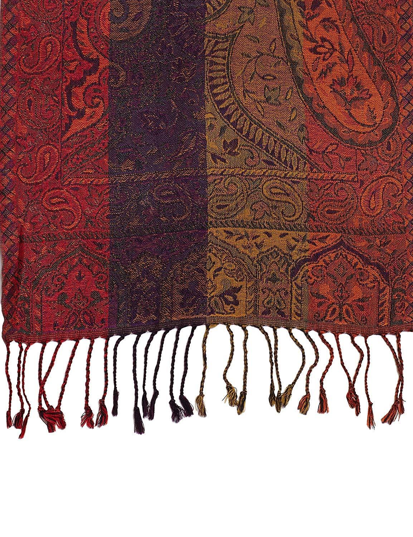 PARIJAT HANDICRAFT Handmade Woollen Neck Scarf Men's Accessories Wool Paisley Design Gifts For Dad,13 X 60 Inch
