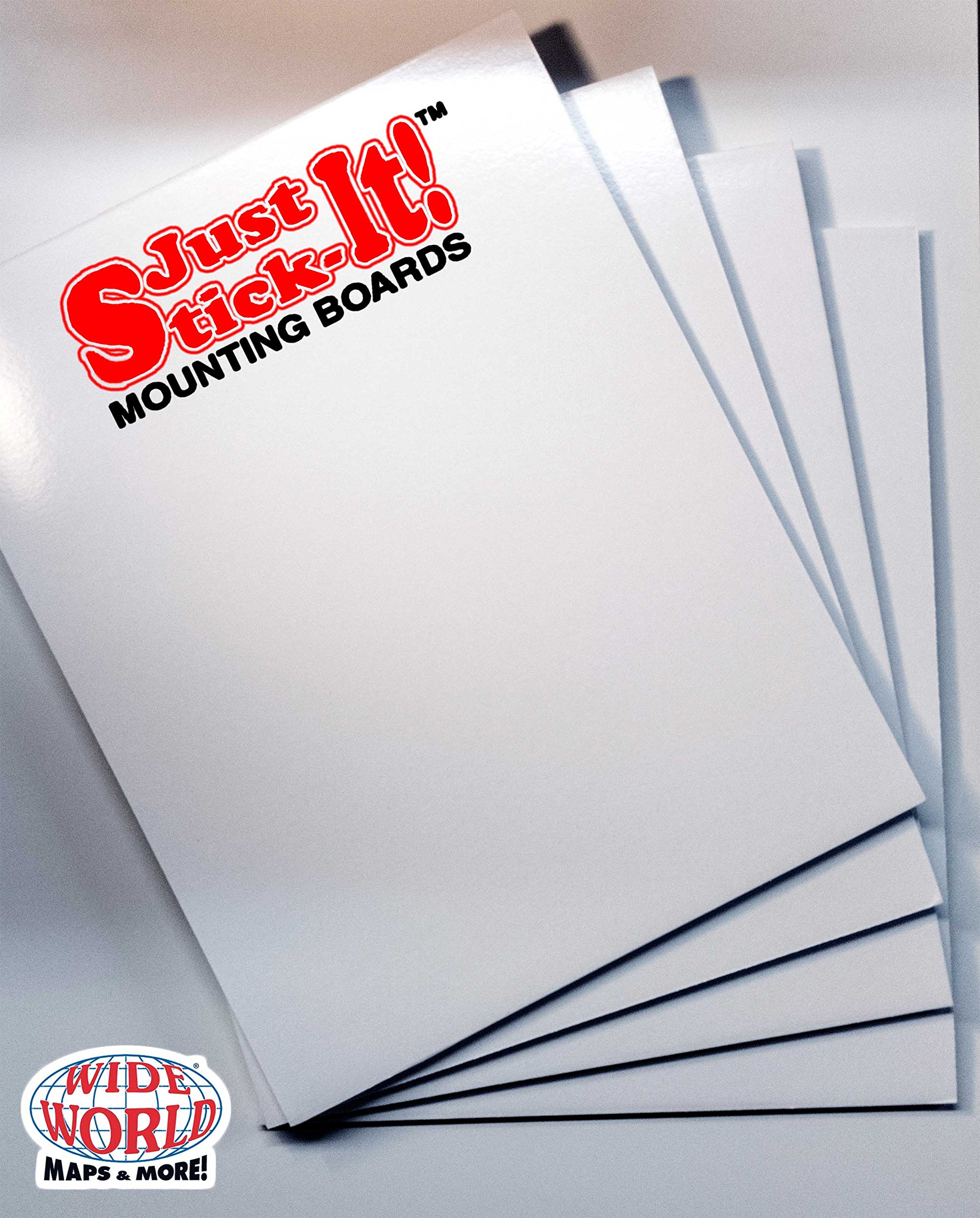Just Stick-It! Mounting Boards: 8½'' × 11'' Four Piece Set by d'SHOP @ Wide World Maps & MORE!
