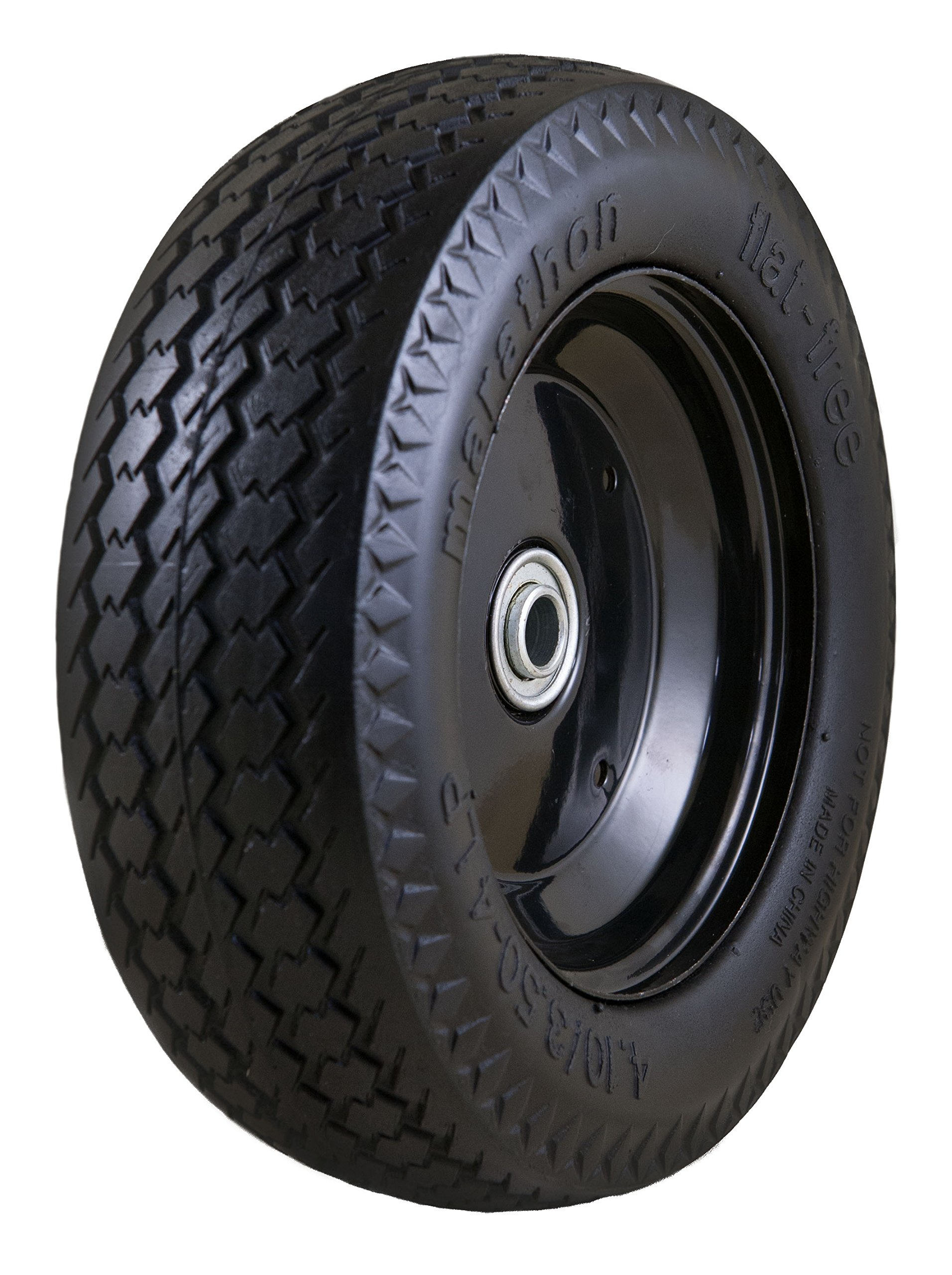 Marathon Universal Fit, Flat Free, Hand Truck/All Purpose Utility Tire on Wheel with Adapter Kit