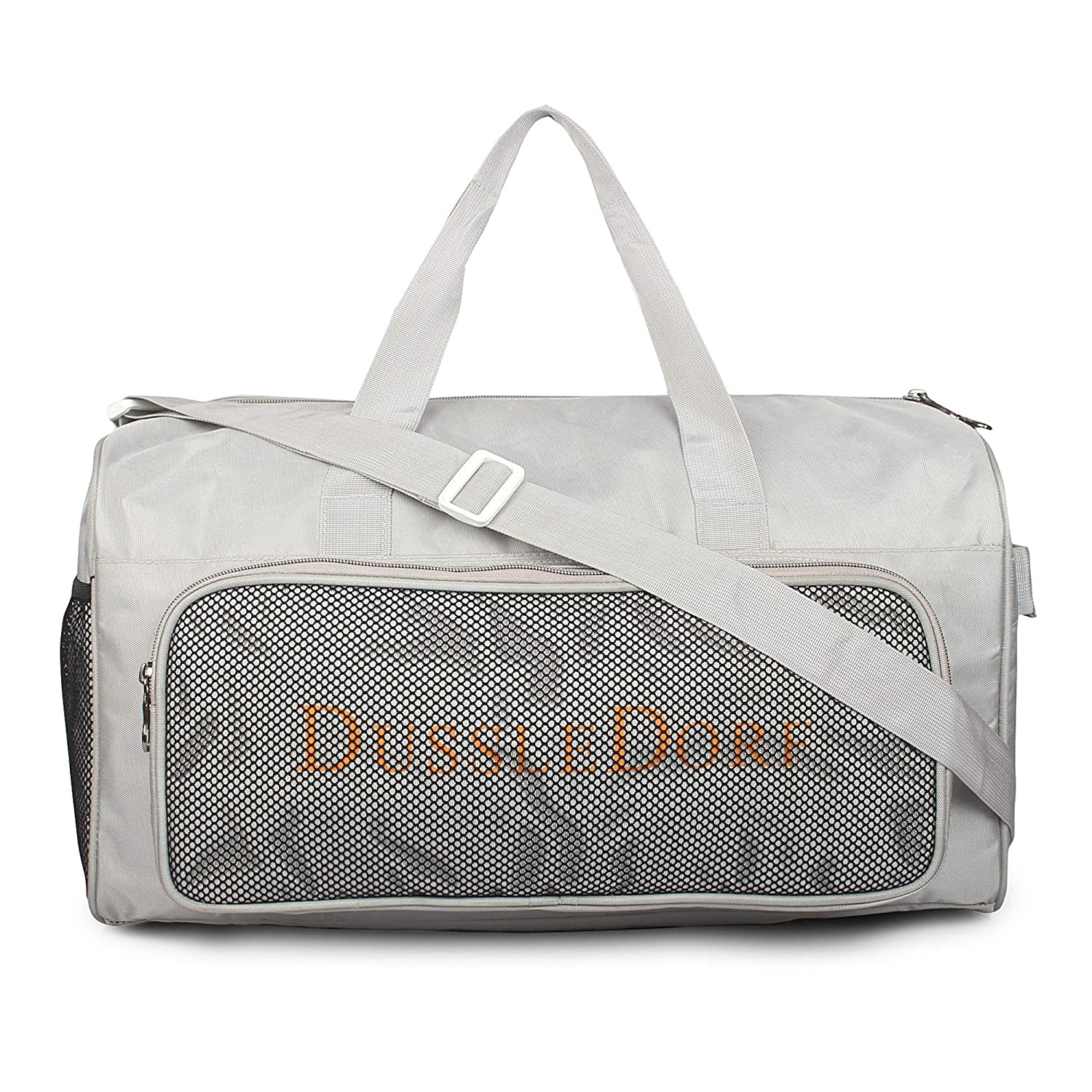 Dussle Dorf Polyester 35 Liters Grey Travel Duffle Bag