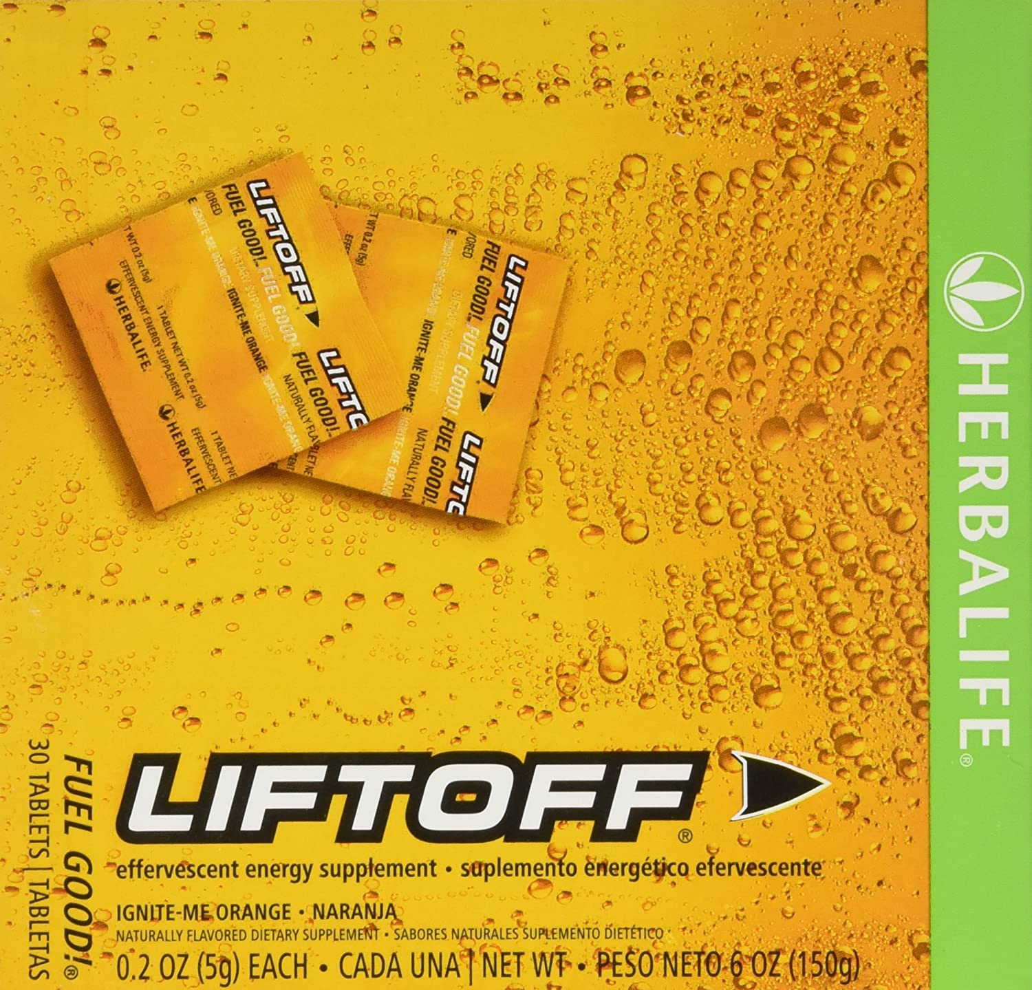 Herbalife Liftoff Ignite Orange 30 Tabs