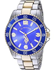 U.S. Polo Assn. Men's Two-Toned, Royal Blue Dial, Automatic Quartz Metal/Alloy Fold-Over-Clasp Watch - USC80514