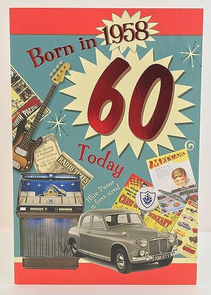 Macho de 60 años 60th Tarjeta de cumpleaños año You Were ...