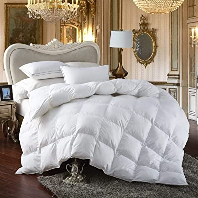 Premium All-Season King Size Luxury Siberian Goose Down Comforter Duvet Insert