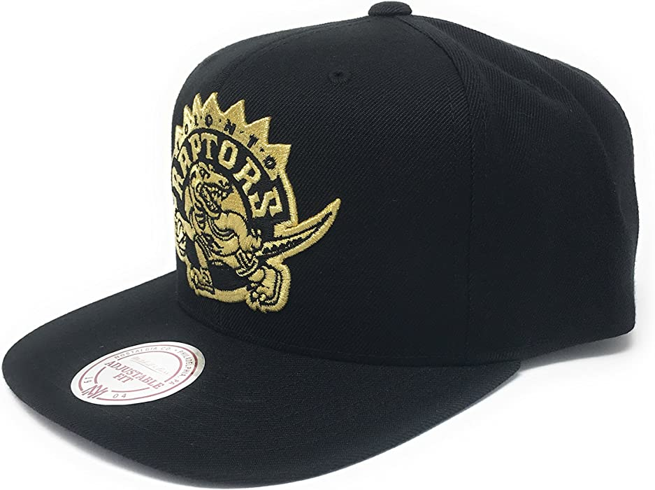 504835e8e9e5f7 Mitchell & Ness Men's Gold Logo Toronto Raptors Purple Brim Snapback Cap at  Amazon Men's Clothing store: