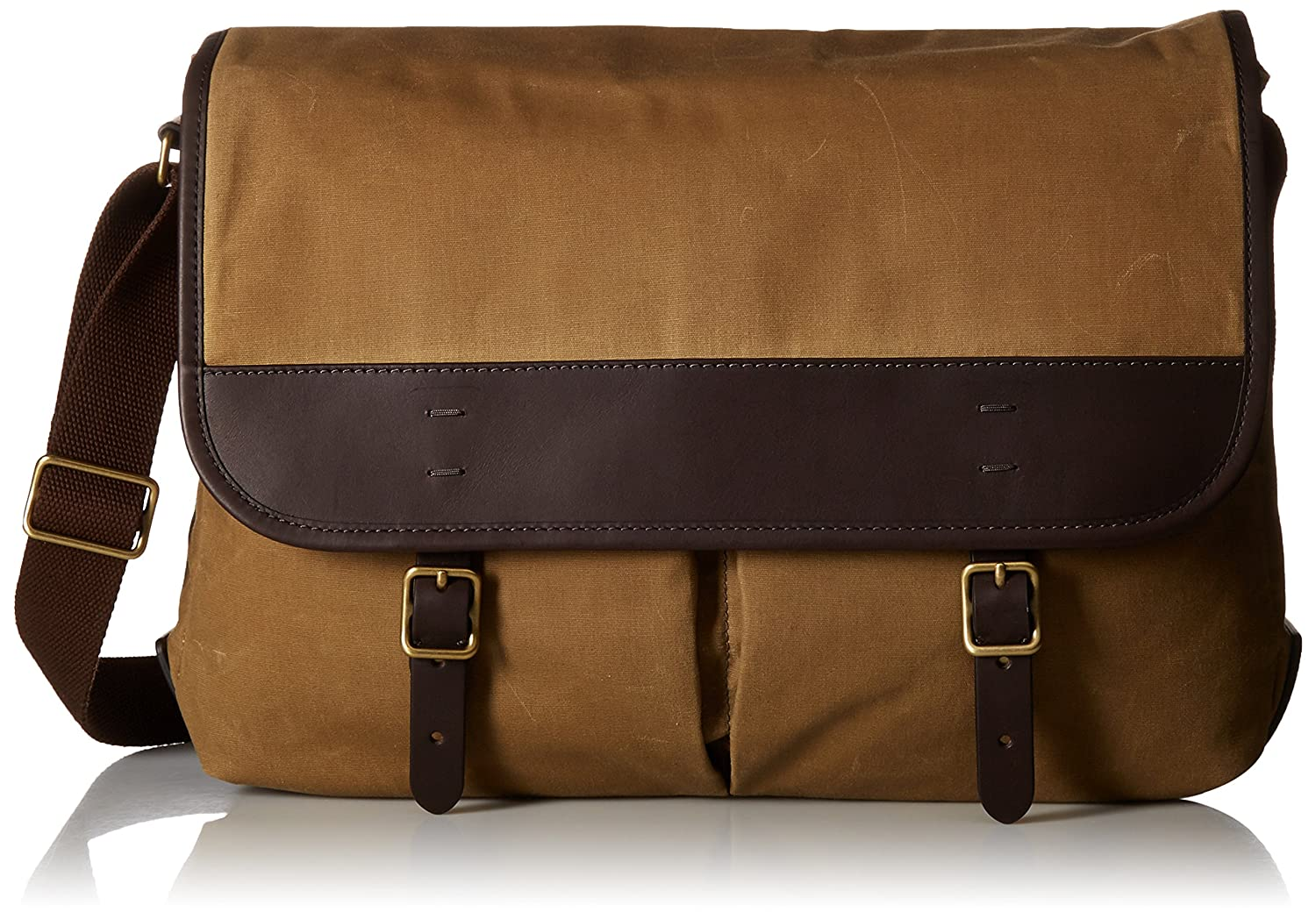 b9268cab999f Amazon.com  Fossil Men s Buckner Leather Trim Messenger Bag