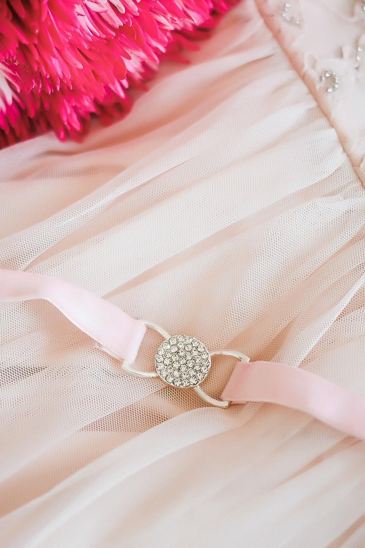 SWEETV Elastico Velluto Cintura Abiti da Sposa Cintura Fascia con Elasticizzato Vita con Strass per la Sposa Donne Damigella donore