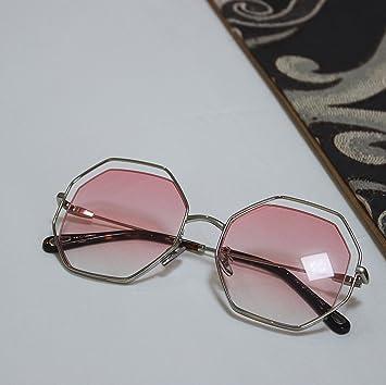 VVIIYJ Gafas de Sol octogonales Femeninas poligonales Cara ...