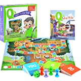 Q's Race to the Top Educational Board Game with Book: social skills, manners, and better behavior!