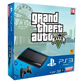 Sony PS3 500GB Super Slim Console with Grand Theft Auto V