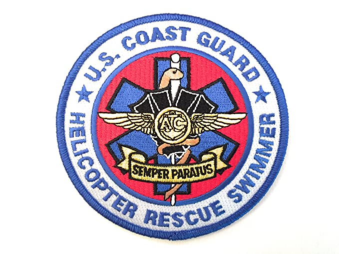 "Us Coast Guard Helicopter Rescue Swimmer 4.5"" Embroidery Patch by Pennant Patches"