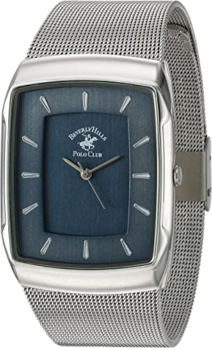 Us Beverly Hills Polo Club Metal Y De Aleación De Reloj De Cuarzo De Los Hombres Color Silver Toned Modelo 53301 Watches