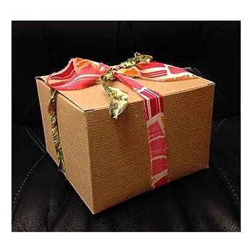 Caja de cartón reciclado - Caja de regalo - 15 x 15 x 10 cm, 5 unidades): Amazon.es: Oficina y papelería