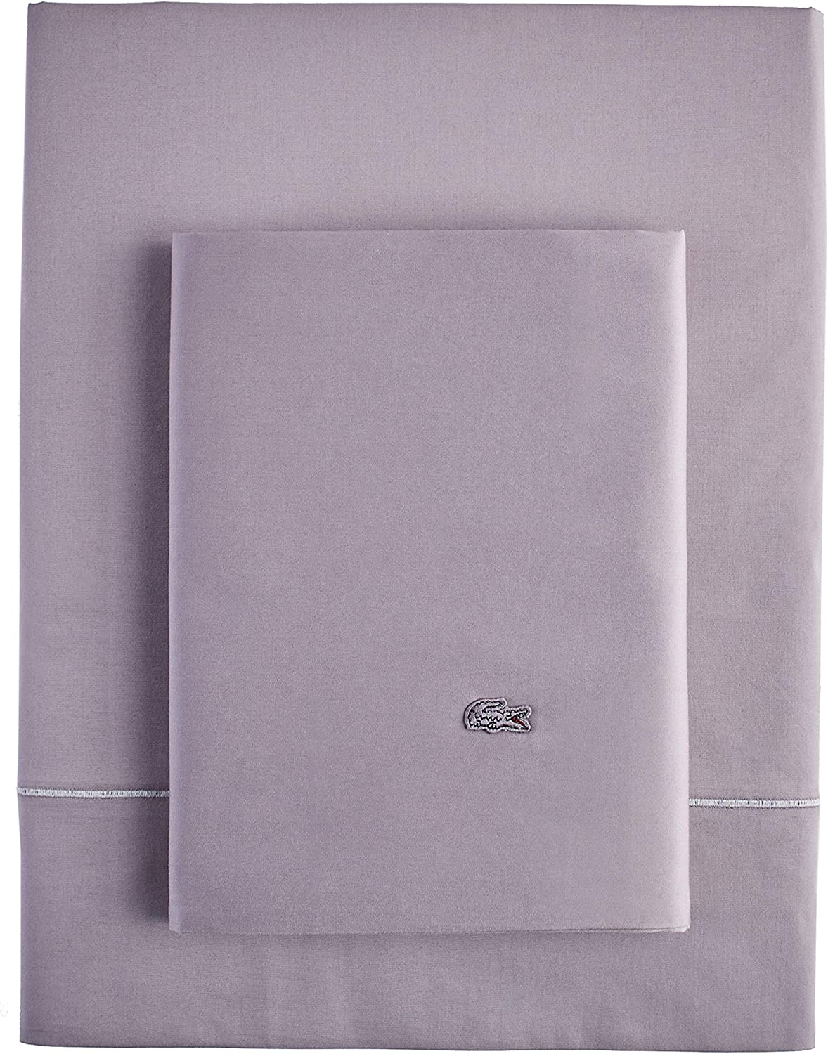 Lacoste Match Point Collection 4-Piece Sheet Set, Full, Storm Grey