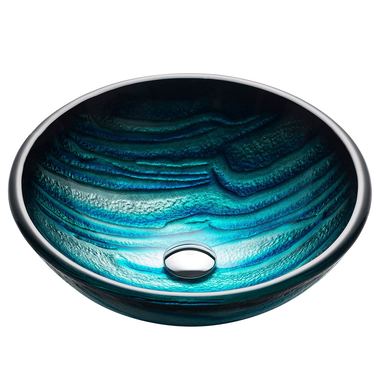 Kraus GV-399-19mm Ladon Glass Vessel Bathroom Sink - - Amazon.com