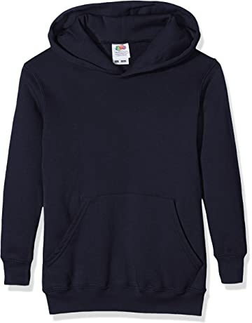 b03813001671 Fruit of the Loom Unisex Kids Pull-over Classic Hooded Sweat