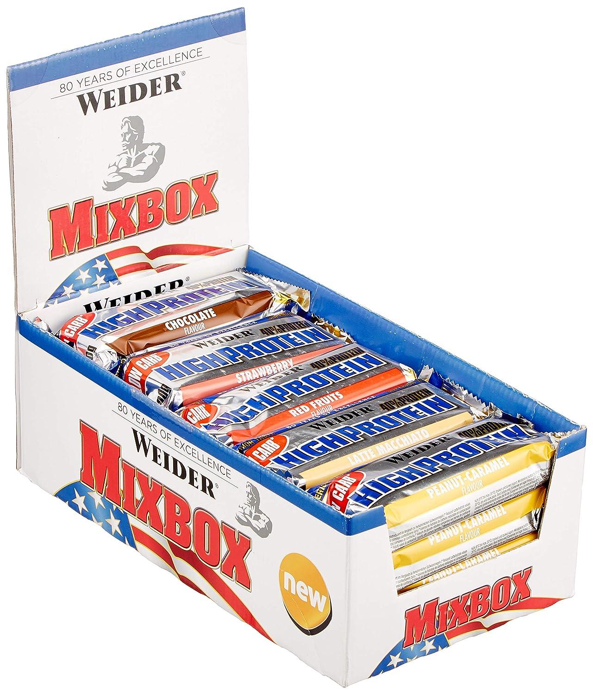 Weider Protein Bar Mix Box 1er Pack 20x 100g Riegel Amazon Drogerie & Körperpflege