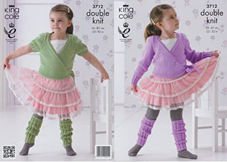 2b269910ee3c8e King Cole Childrens DK Knitting Pattern Girls Ballet Cardigans   Leg  Warmers (56cm-81cm)  Amazon.co.uk  Kitchen   Home