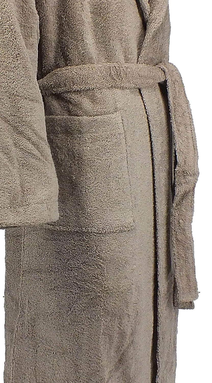 Accappatoio collo tipo smoking taglia XL colore marrone Home Basic