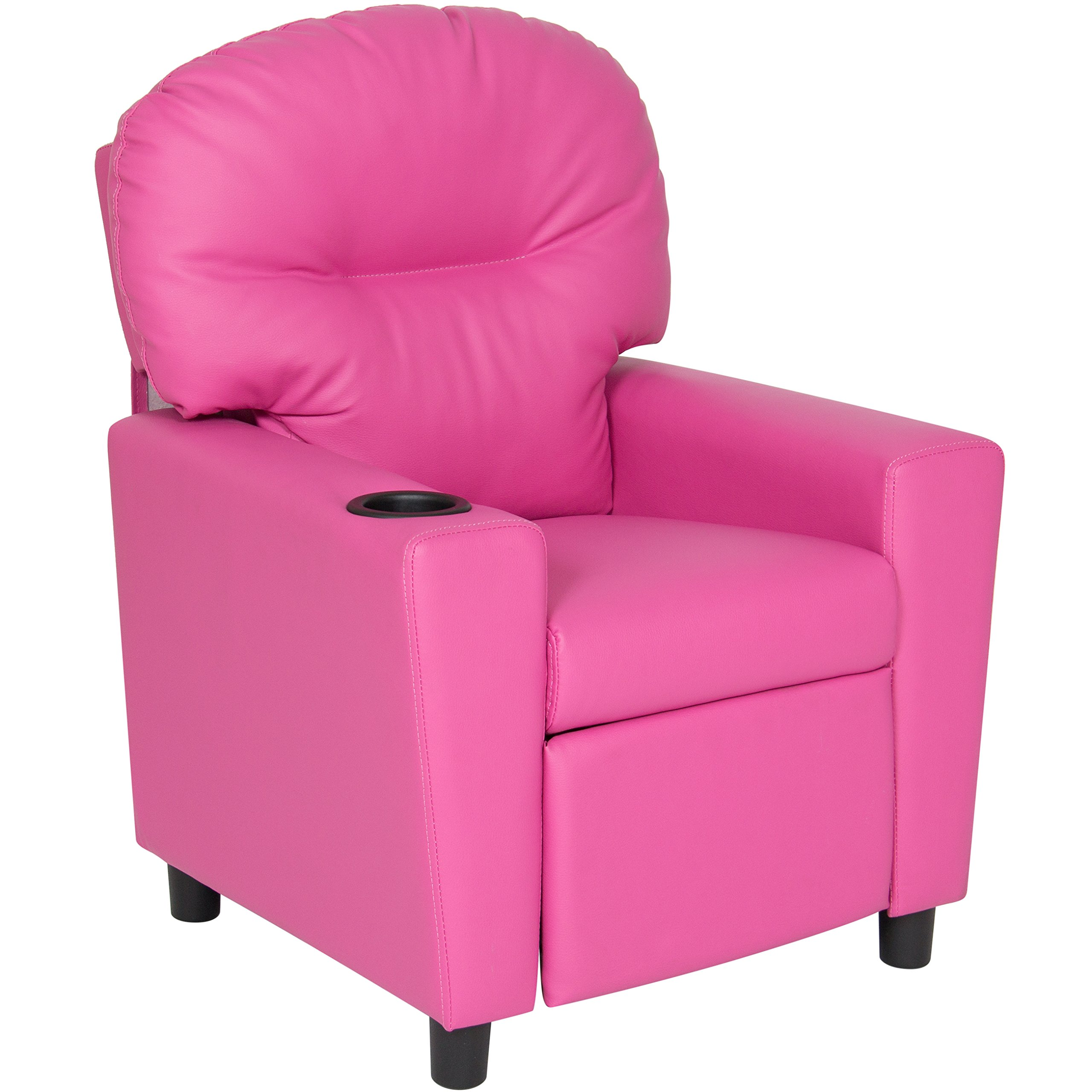 Best Choice Products Kids Furniture Recliner Chair with Cup Holder- Pink