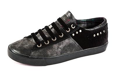 Wrangler Damen Starry Sneaker Low Schwarz Bsilber Gr 37