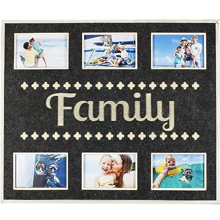 New View Grey Felt Collage Photo Frame Family Amazoncouk