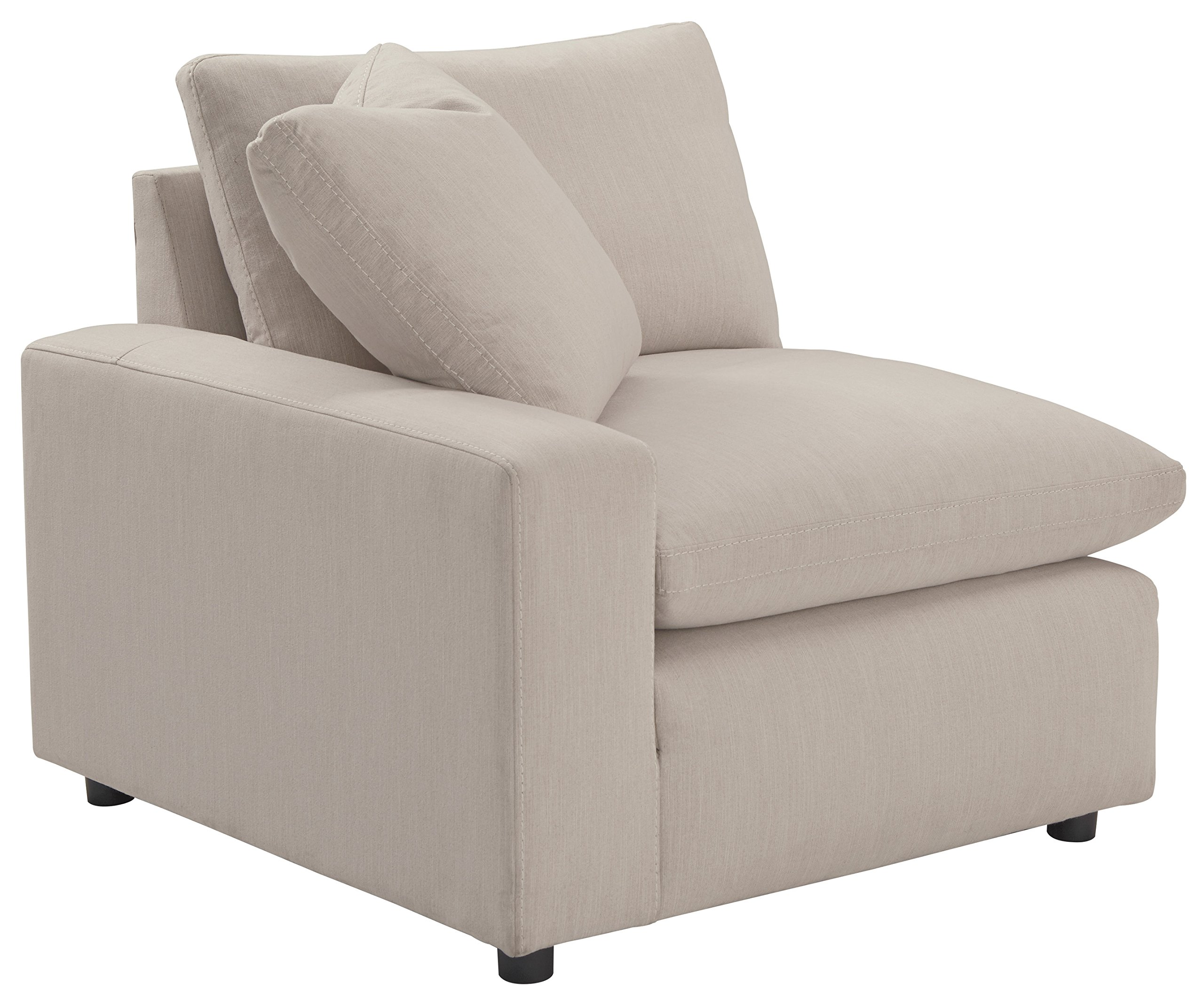 Ashley Furniture Signature Design - Savesto Contemporary Left Arm Facing Corner Chair - Standalone or Sectional Component - Ivory by Signature Design by Ashley