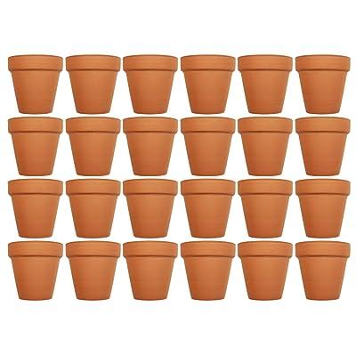 """Set of 24 Terra Cotta Pots! 3"""" x 2.95"""" Pots Perfect for Vegetable or Flower Gardens! 3 inch Clay Terra Cotta Pots! (24): Garden & Outdoor"""