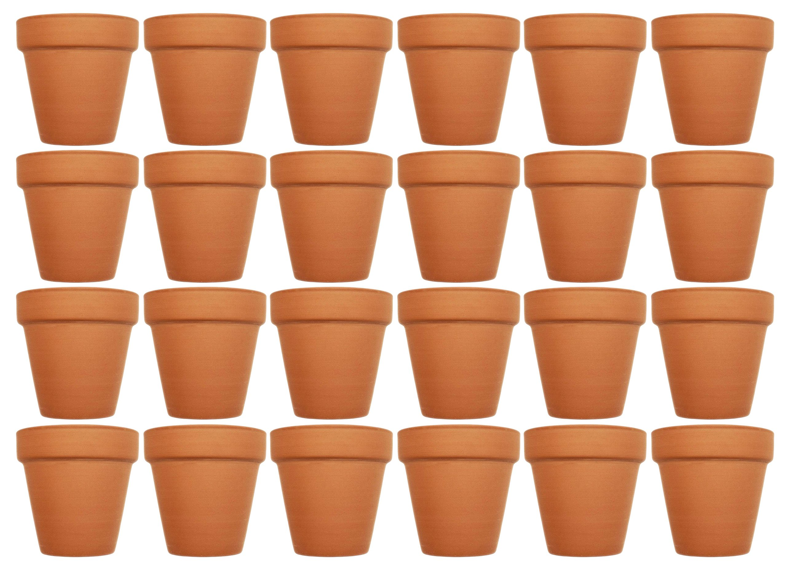 Set of 24 Terra Cotta Pots! 4'' x 3.75'' Pots Perfect for Vegetable or Flower Gardens! 4 inch Clay Terra Cotta Pots!