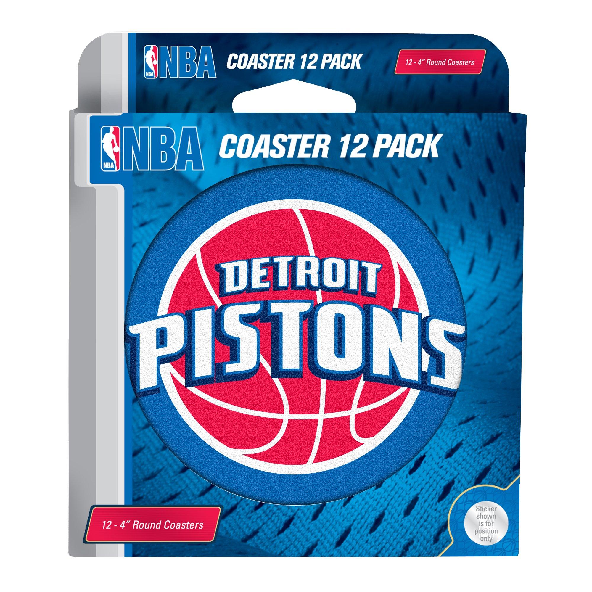 NBA Detroit Pistons Pulpboard Coasters, Set of 12