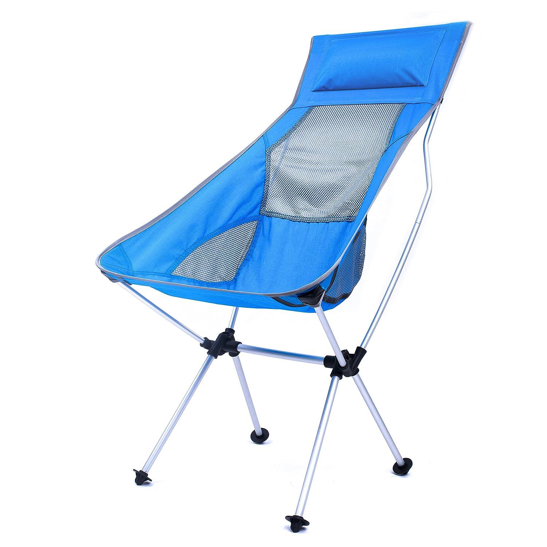 軽量折りたたみバックパッキングキャンプ椅子 – 2017更新され超軽量ポータブル折りたたみ式アウトドアキャンプ椅子ハイキングMotorcycling釣り車旅行ピクニックbeach-lounging Touring B072MR547Y Full Sky blue-L Full Sky blue-L