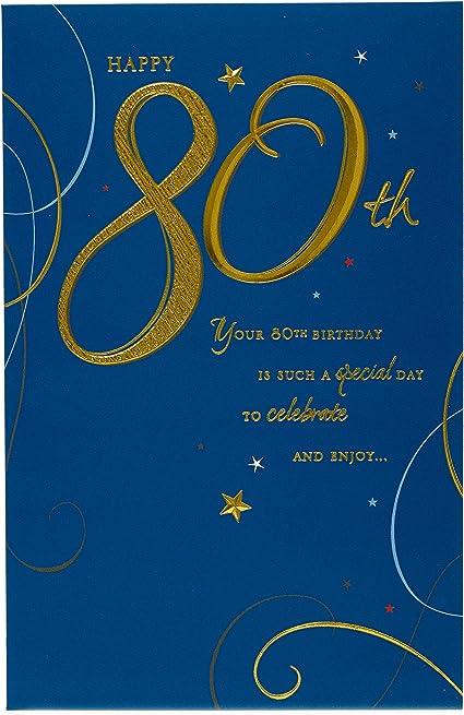 Carte D Anniversaire 80 Ans Jour Special Pour Celebrer Amazon Fr Fournitures De Bureau