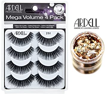 fcdd9180184 Ardell MEGA VOLUME 4-PACK, 251 BLACK, Multipack Lashes, Contains 4 Pair