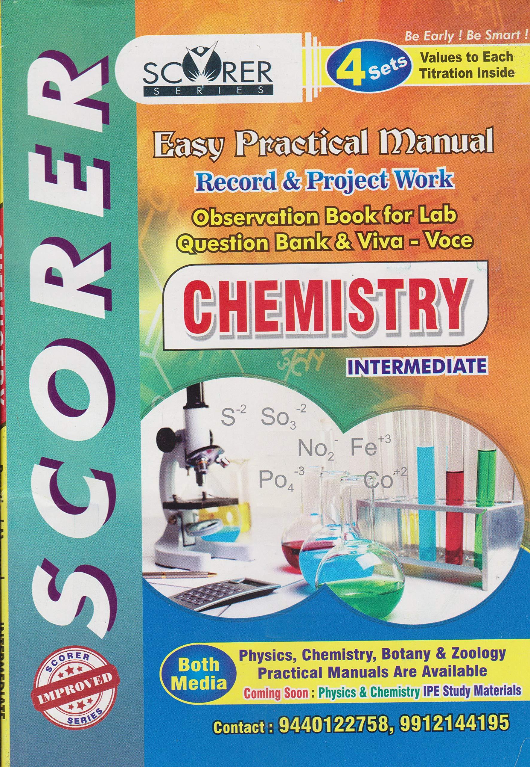 Chemistry Practicals Pdf