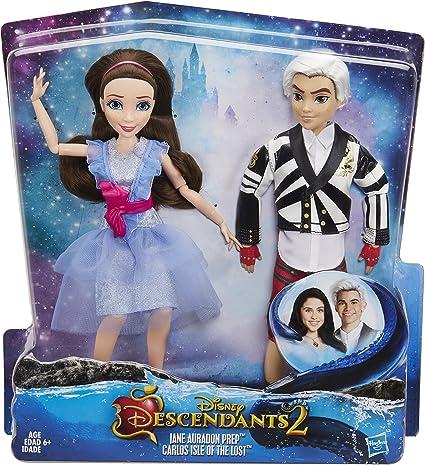 Disney Descendants Two-Pack Jane Auradon Prep and Carlos Isle of the Lost Hasbro C1845