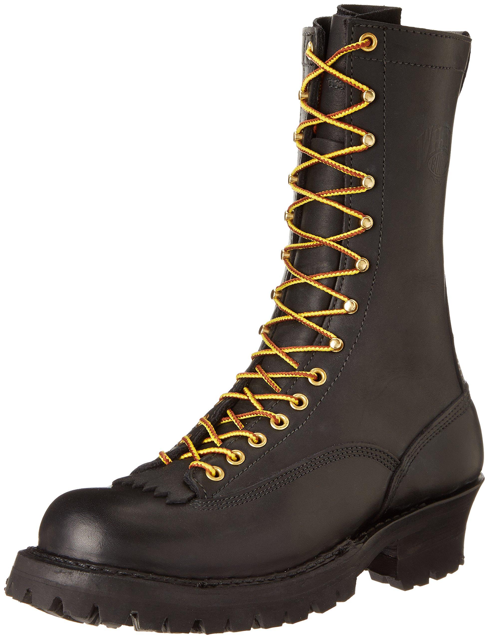 White's Boots Men's 400VLTT Smoke Jumper Lace-To-Toe Boot,Black,10 D US