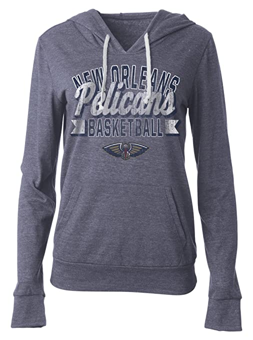 5th Ocean Nba New Orleans Pelicans Women S Tri Blend Jersey Pullover Hoodie With Pouch Pocket Medium Tri Natural Navy